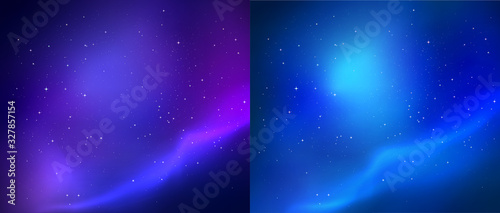 Outer space vector backgrounds Wallpaper Mural