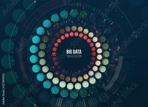 Big data visualization Canvas Print