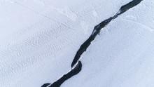 Huge Cracks In Ice. Textured W...