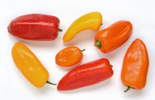 Fresh Colorful Bell Peppers Is...