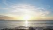 Magnificent sunset in the Atlantic Ocean Caribbean Sea Sky and Fantastic sea