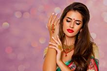 Close Up Beauty Portrait India...