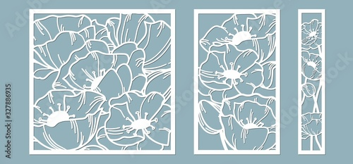 template for laser cutting and Plotter Wallpaper Mural