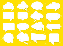 Vector Speech Clouds Chat Bubb...