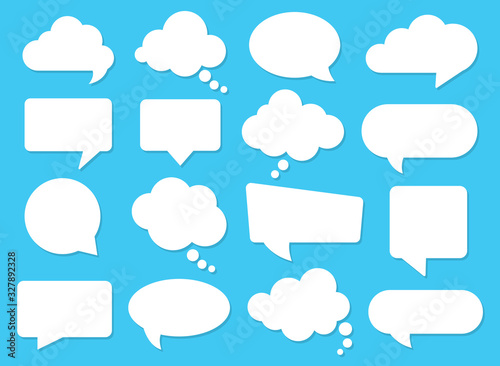 Fotomural Vector speech clouds chat bubble icon. Vector illustration