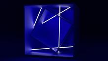Neon Asymmetrical Cubes