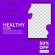 HEALTHY FOOD PROMOTION DESIGN. TEMPLATE COVER DESIGN. SALE BANNER TEMPLATE.VECTOR ILUSTRATION
