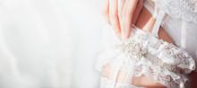 Bride With Garter On Her Leg