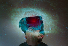 Digital Composite Of Child Exp...