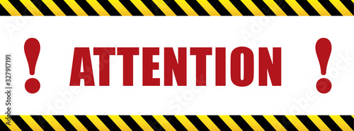 Attention with exclamation mark Canvas Print