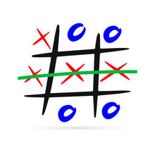 Doodle Tic Tac Toe Game With C...