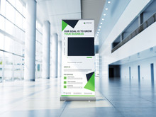 Roll Up Banner Stand Template ...