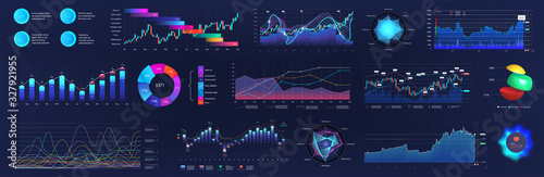 UI User interface elements for dashboard Wallpaper Mural