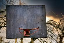 Rusty Old Basketball Hoop Agai...