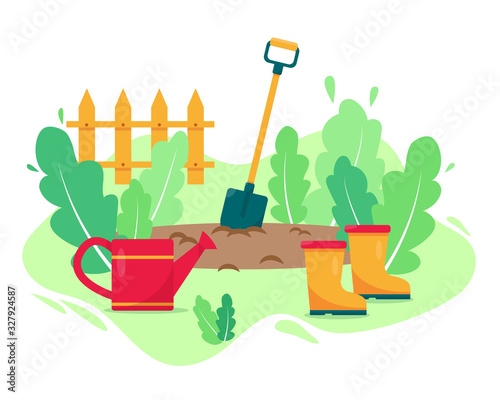 Papel de parede Gardening concept design vector illustration