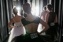 Young Female Ballerinas Waitin...