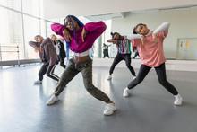 Young Hip-hop Dancers Practici...