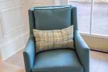 Stylish Blue Armchair Furnitur...
