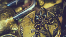 Old Brass Lock And Keys