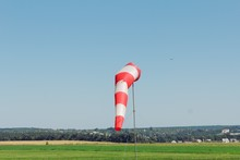Windsock Wind Aviation Red Con...