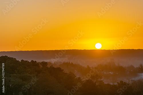 lever du soleil à l'horizon Canvas Print