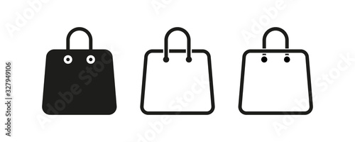Photo Bag shopping vector isolated icons collection