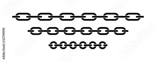 Chain icon vector isolated Fototapete