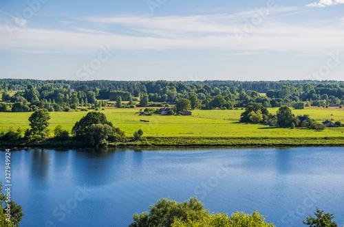 Beautiful green nature landscape of Europe #327949924