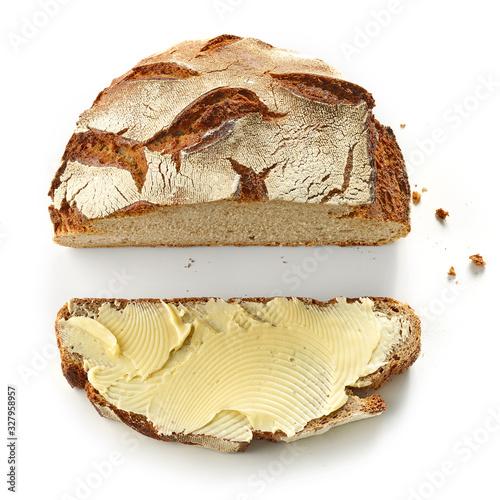 Fotografie, Obraz bread slice with butter