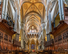 Interior Of Salisbury Cathedra...