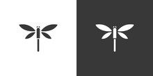 Dragonfly. Isolated Icon On Bl...