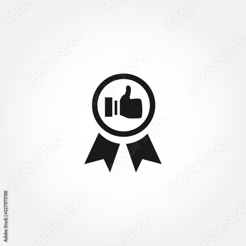Fotografía Best practice icon. like illustration vector solid icon