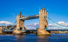 London Tower Bridge Across The...