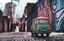 Miniature Vintage Hipster Van ...
