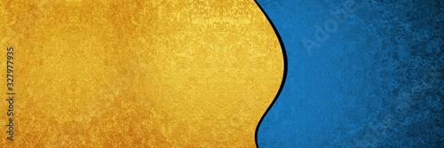 Cuadros en Lienzo 金と青の背景