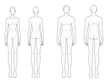 Fashion Template Of Men And Women.