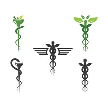 Medical Snake Vector Icon Illu...