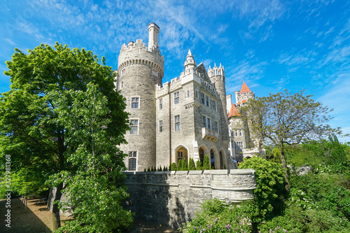 Canvastavla Historic castle of Casa Loma, Gothic Revival style mansion, garden, and upscale