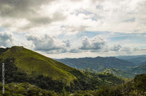 Fototapety, obrazy: landscape with mountains and clouds