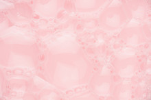 Pink Bubbles And Soap Water As...