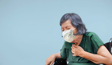 Elderly Woman Cough ,choke On ...