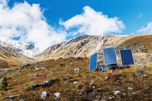 Solar Panels On The Hillside. ...