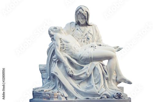 Obraz na płótnie La Pieta statue - The blessed Virgin Mary holding dead Jesus Christ body
