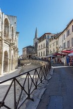 Arles Amphitheatre And Oldt To...