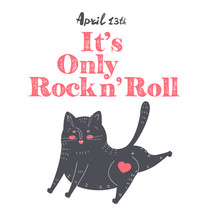International Rock And Roll Day, Funny Cat