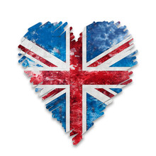 Distressed Style Heart Union J...