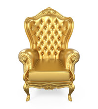 Golden Throne Chair Isolated