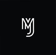 Initial Based Modern And Minimal Logo. MJ JM Letter Trendy Fonts Monogram Icon Symbol. Universal Professional Elegant Luxury Alphabet Vector Design