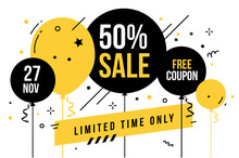 Vector Limited Time Sale Illus...