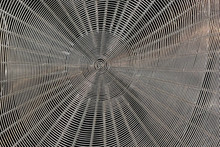 Abstract Metallic Spiral Grid ...